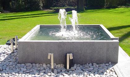 Vijvers en fonteinen for Rechte vijver